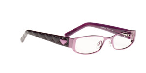 Purple glasses from Daisy Fuentes