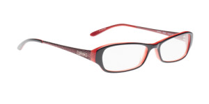 Black and Red Women's Glasses from Guess