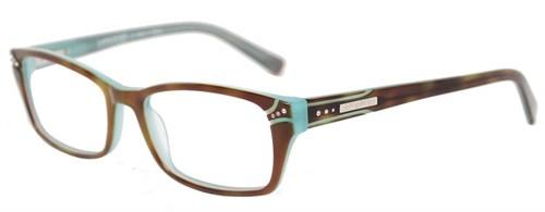 Kardashian Kollection Duotone Camel and Mint Eyeglasses