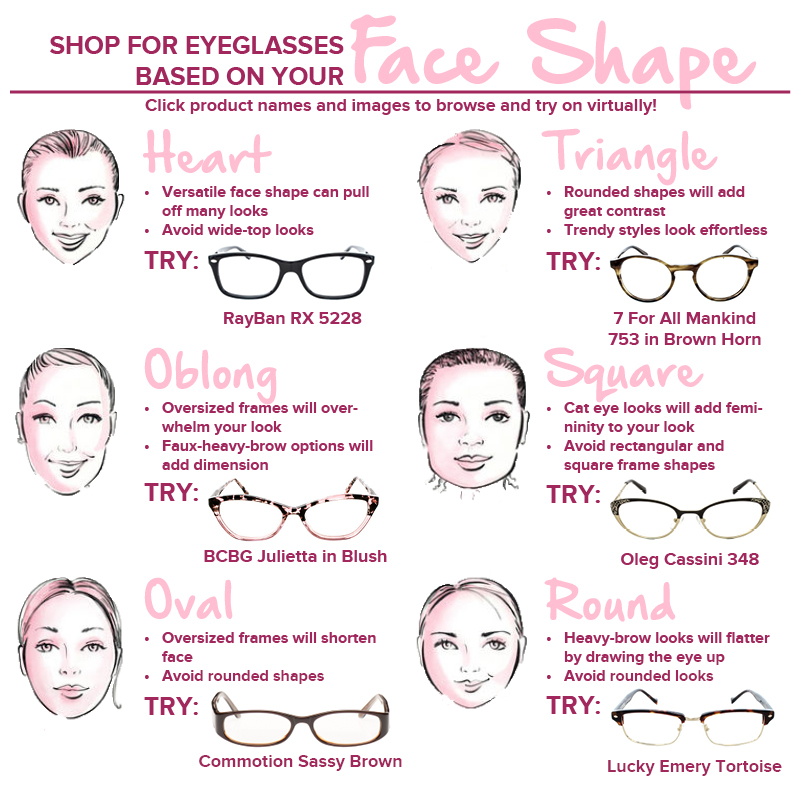 Types Of Glasses Frames For Face Shapes : Find the Perfect Glasses for Your Face Shape - Fashion ...