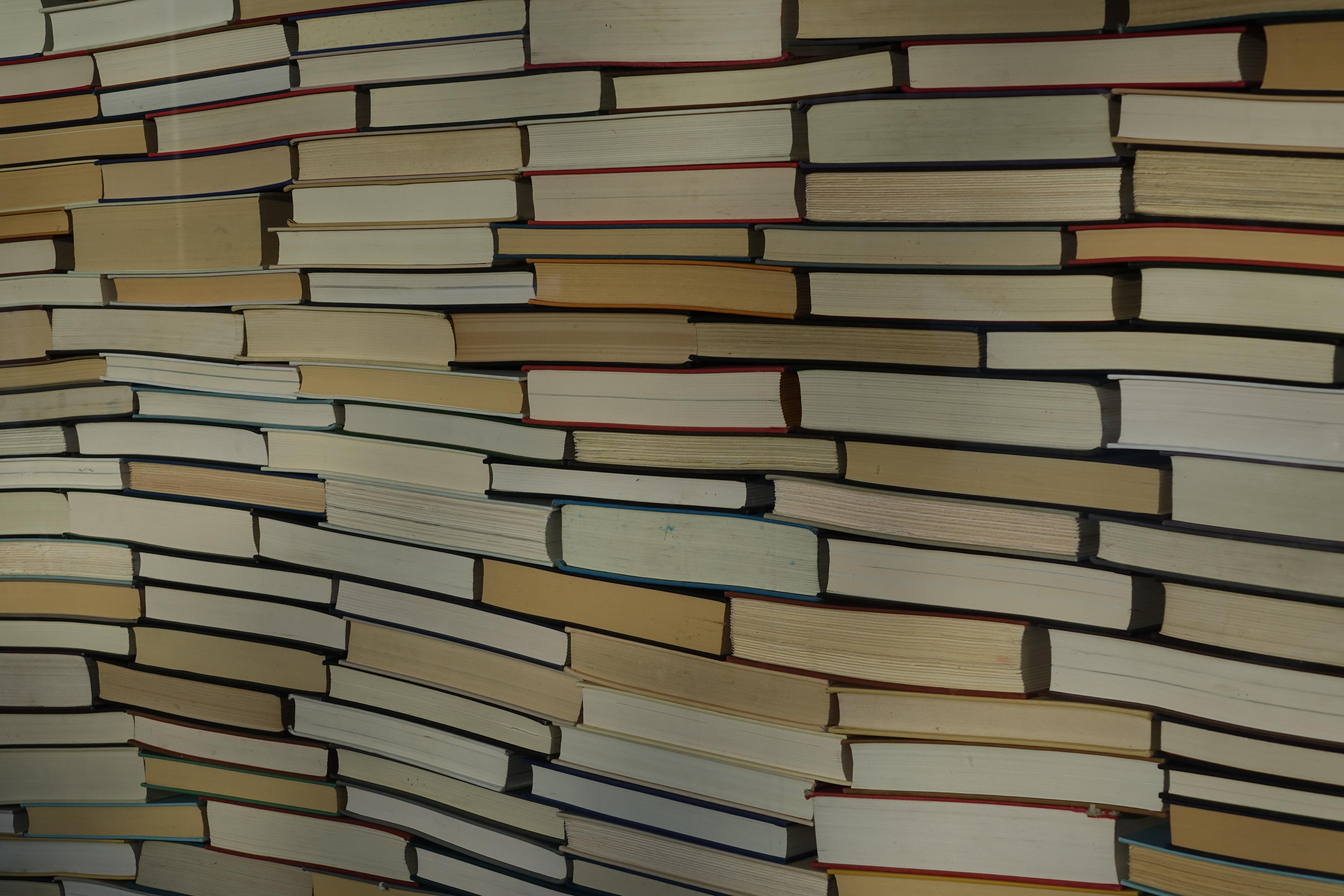 stack of large print books